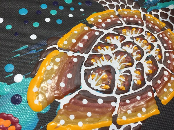 "Anthony Walker, ""Seven sister turtle increase song cycle"", 95x60cm"