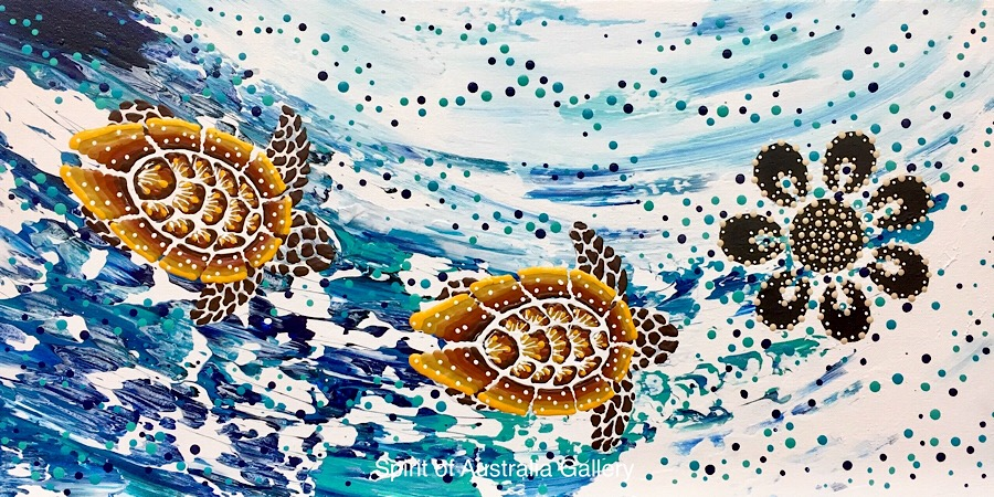 """Anthony Walker, """"Turtle increase song cycle"""", 60x30cm"""
