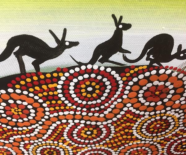 "John Turnbull, ""Roo Dreaming"", 60x50cm"
