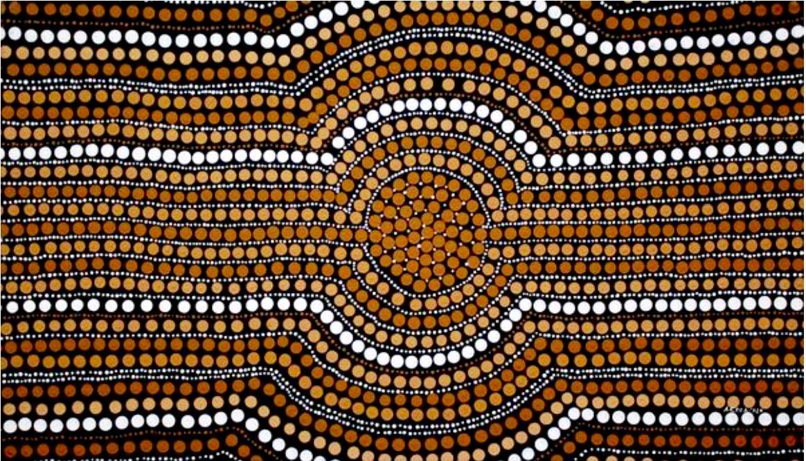 "Aaron Cora, ""Sacred water hole"", 90x50cm"