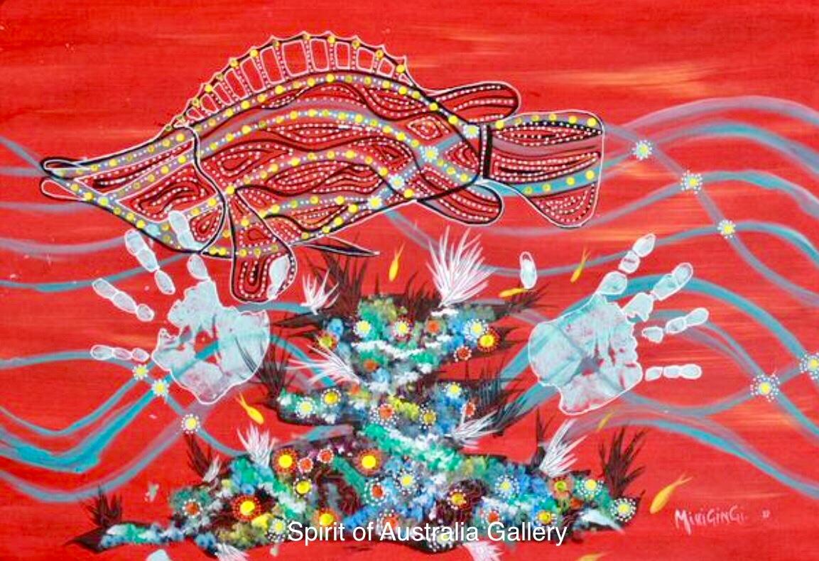 "Grant Ley Paulson, ""Reef Fish"", 95x60cm"