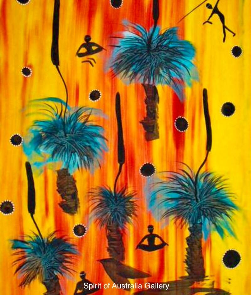 "Grant Ley Paulson, ""Balga,Grass Plants"", 95x60cm"