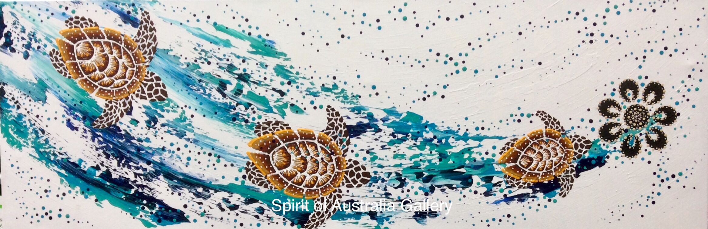 "Anthony Walker, ""Turtle increase song cycle"", 120x60cm"