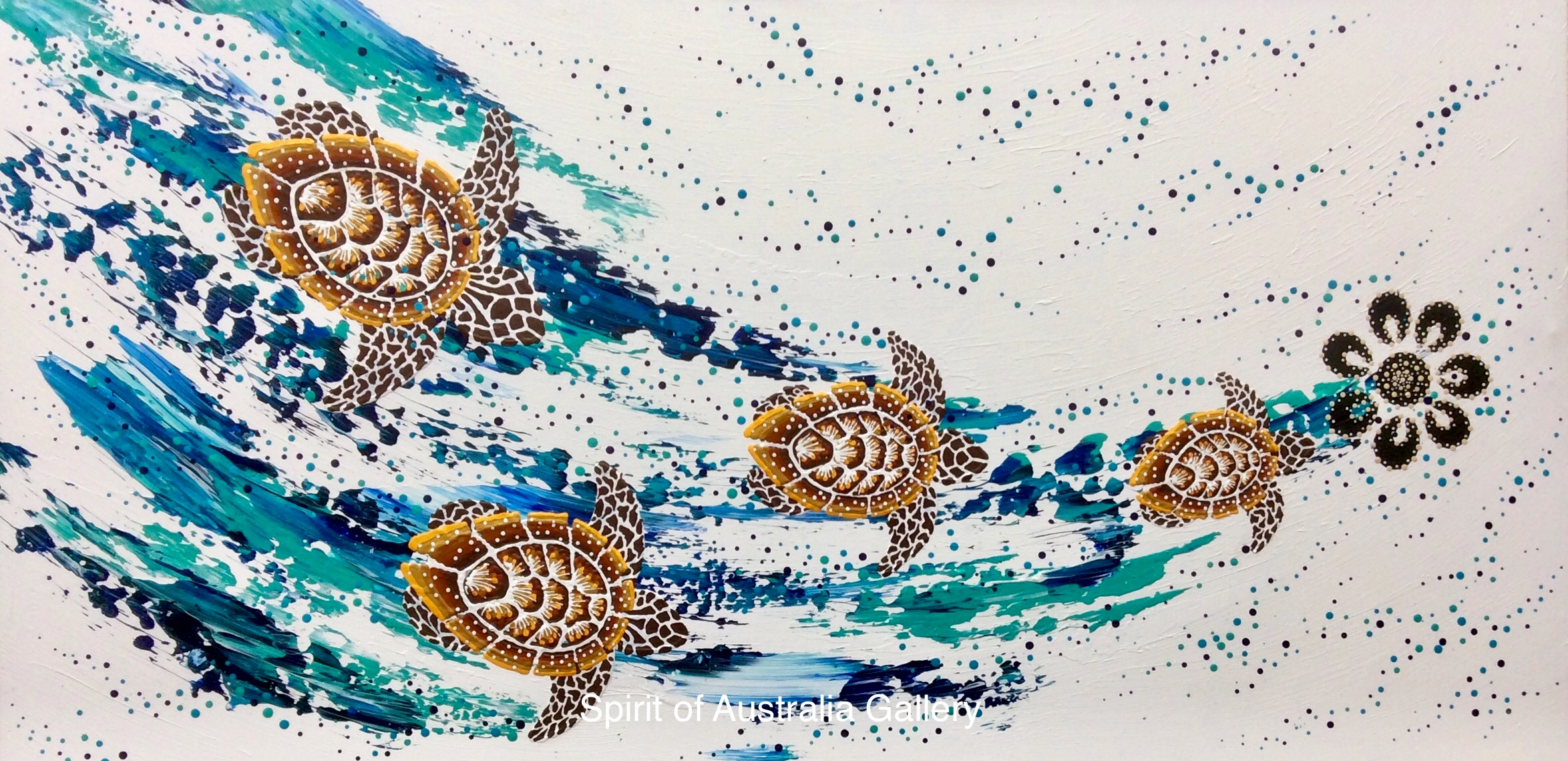 "Anthony Walker, ""Turtle increase song cycle"", 120x40cm"