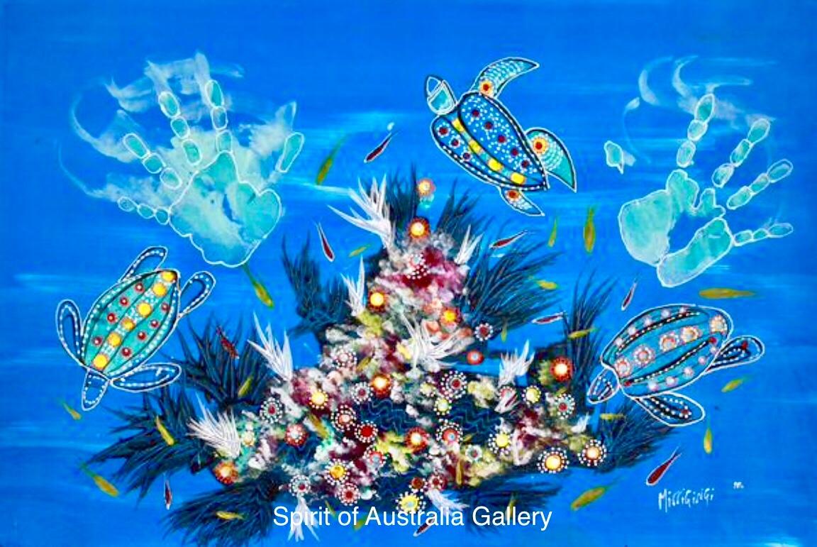 "Grant Ley Paulson, ""Reef Life"", 95x60cm"
