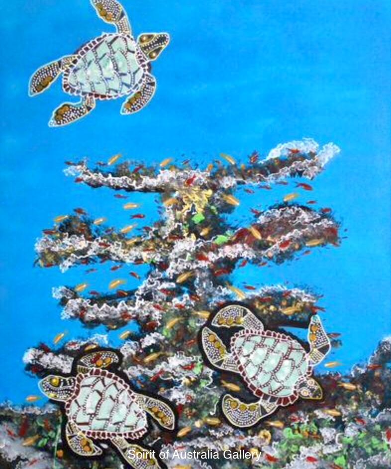 "Grant Ley Paulson, ""Sea Turtles"", 90x60cm"