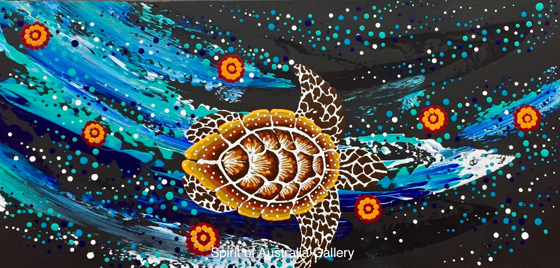 "Anthony Walker, ""Seven sister Turtle song cycle"", 60x30cm"