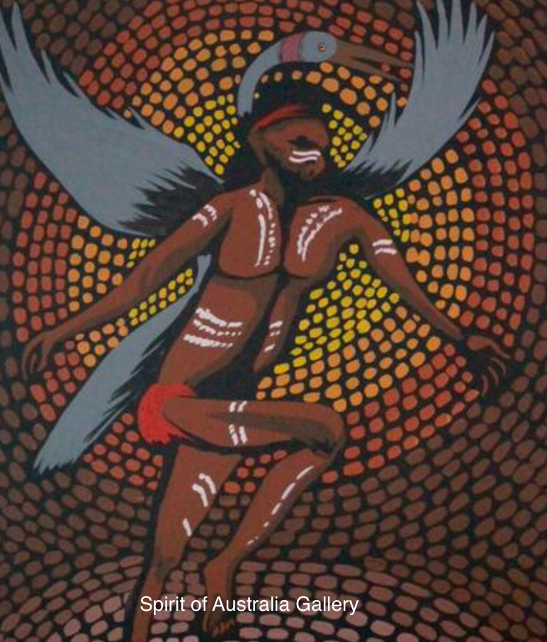 "Colin Wightman, ""Ancestors"" ,75x50cm"