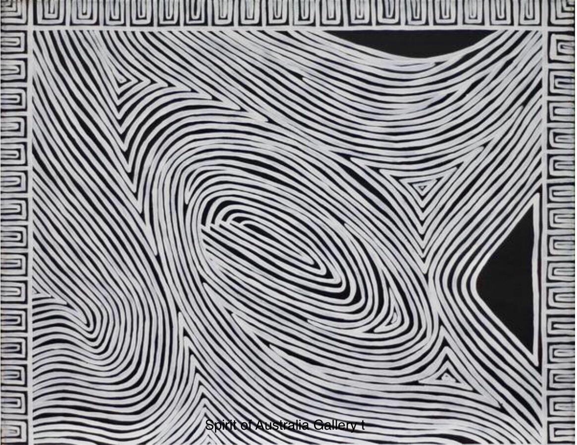 "Narelle Urquhart, ""Boundry trees"", 60x50cm"