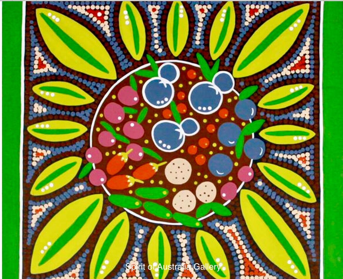 """Narelle Urquhart, """"Summer Feast"""", 60x60cm"""