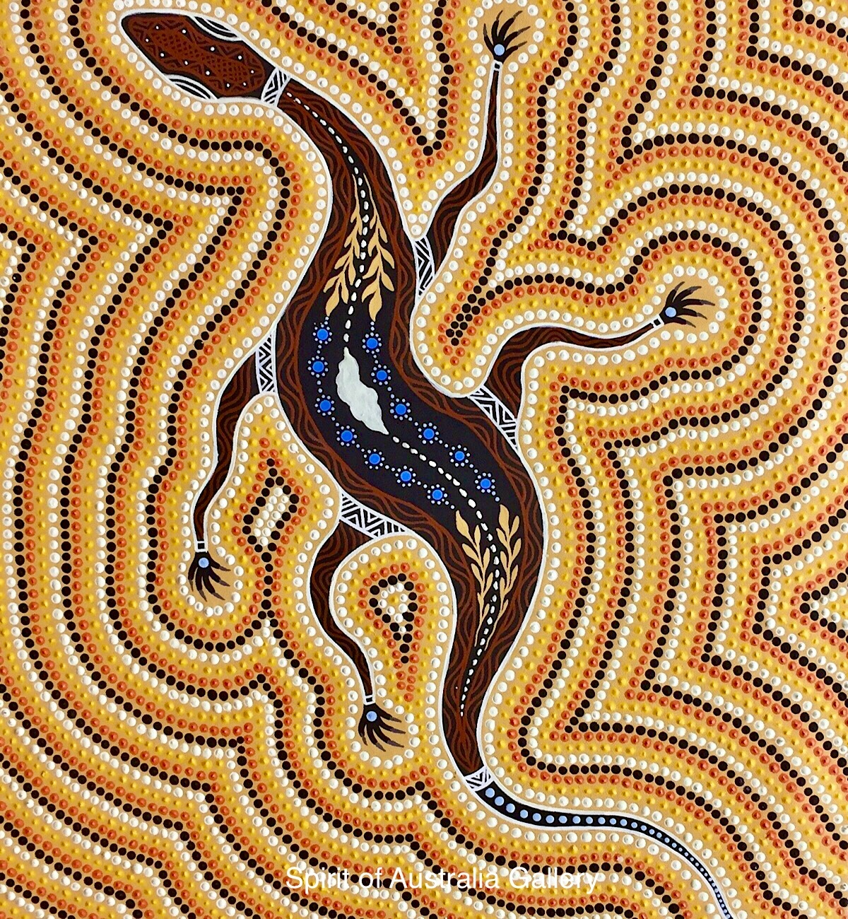 "Troy Little, ""Goanna"", 95x75cm"