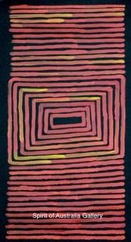 """Ronnie Tjampitjinpa, """"Tingari"""", 60x30cm"""