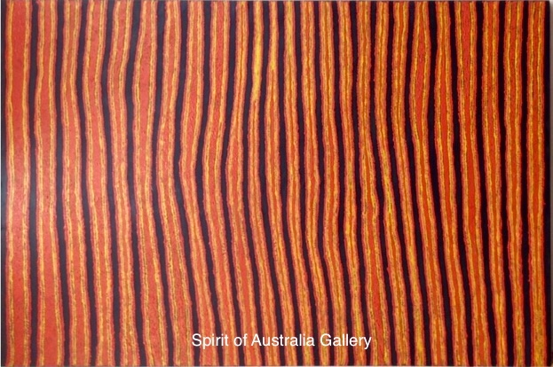 "Eileen Anyama Napaltjarri, ""My country"", 180x120cm"