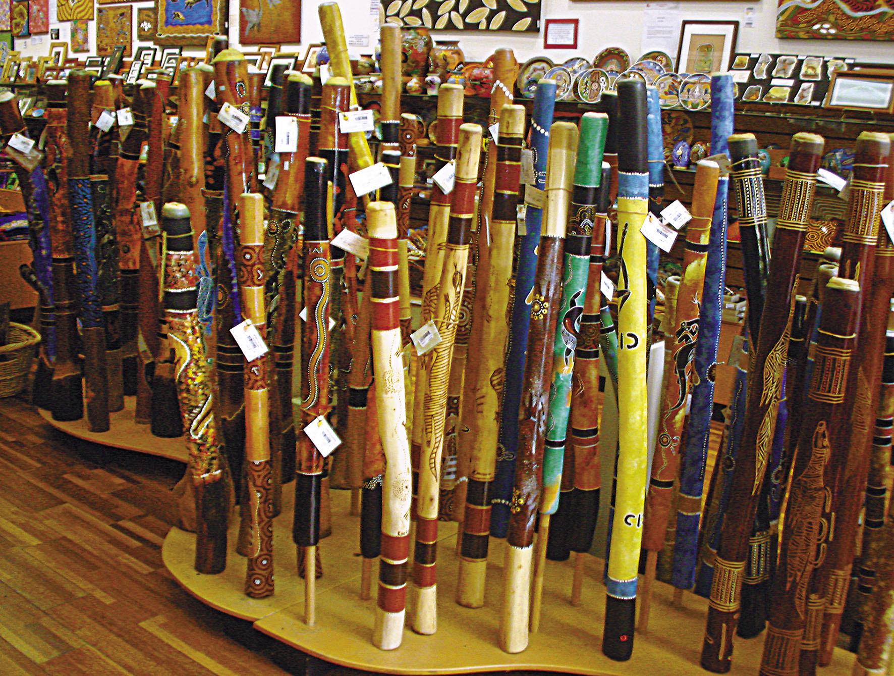- Authentic Aboriginal, Termite Eaten Didgeridoos - <br> (prices on request)
