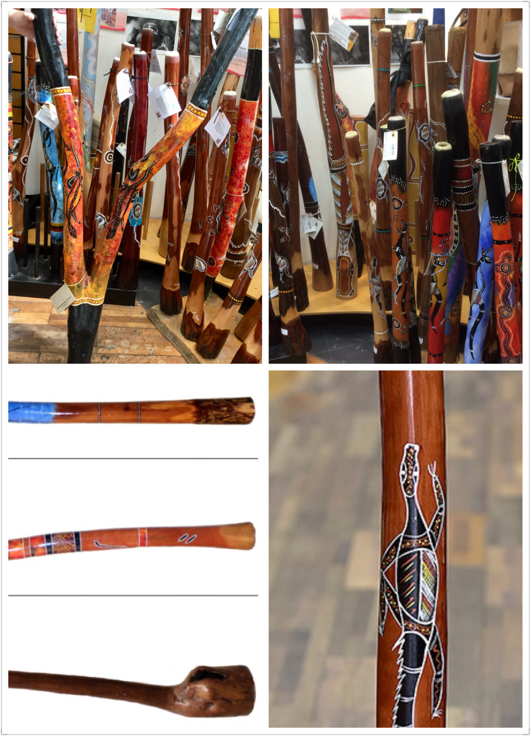 - Authentic Aboriginal, Termite Eaten Didgeridoos - <br> (prices on request)
