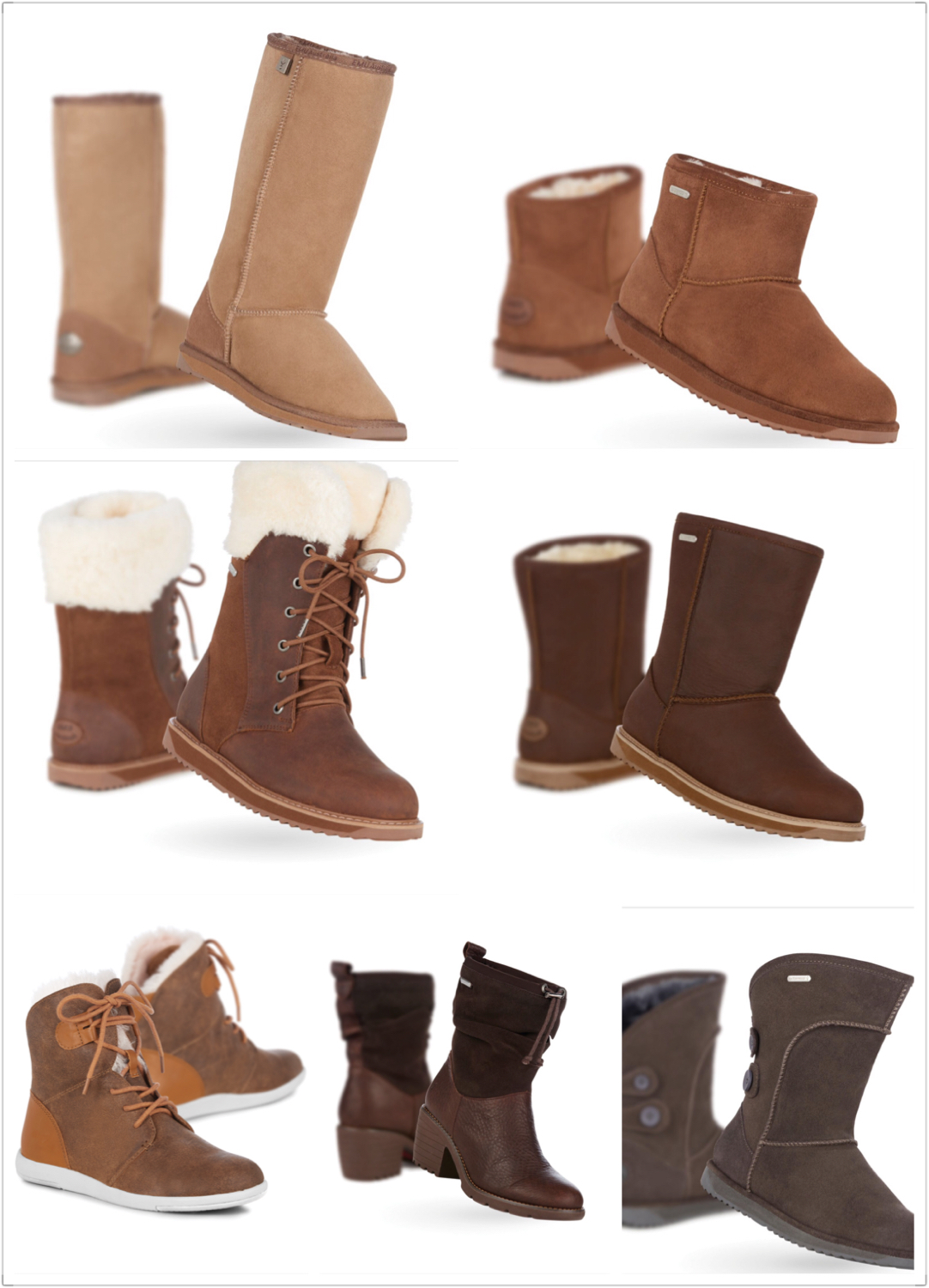 - Sheepskin Footwear, EMU AUSTRALIA - <br> (prices on request)
