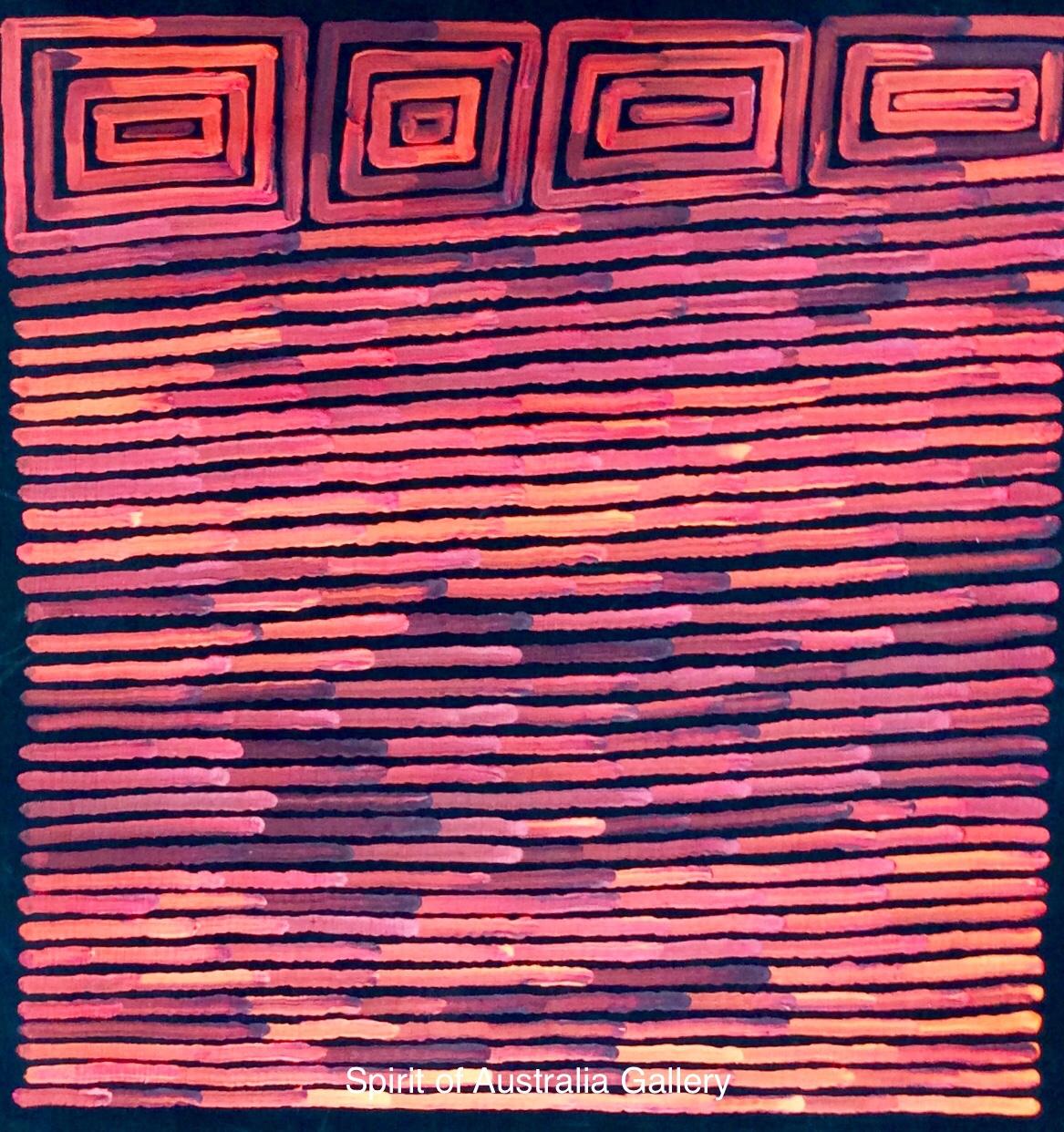 """Ronnie Tjampitjinpa, """"Fire Dreaming"""", 60x60cm"""