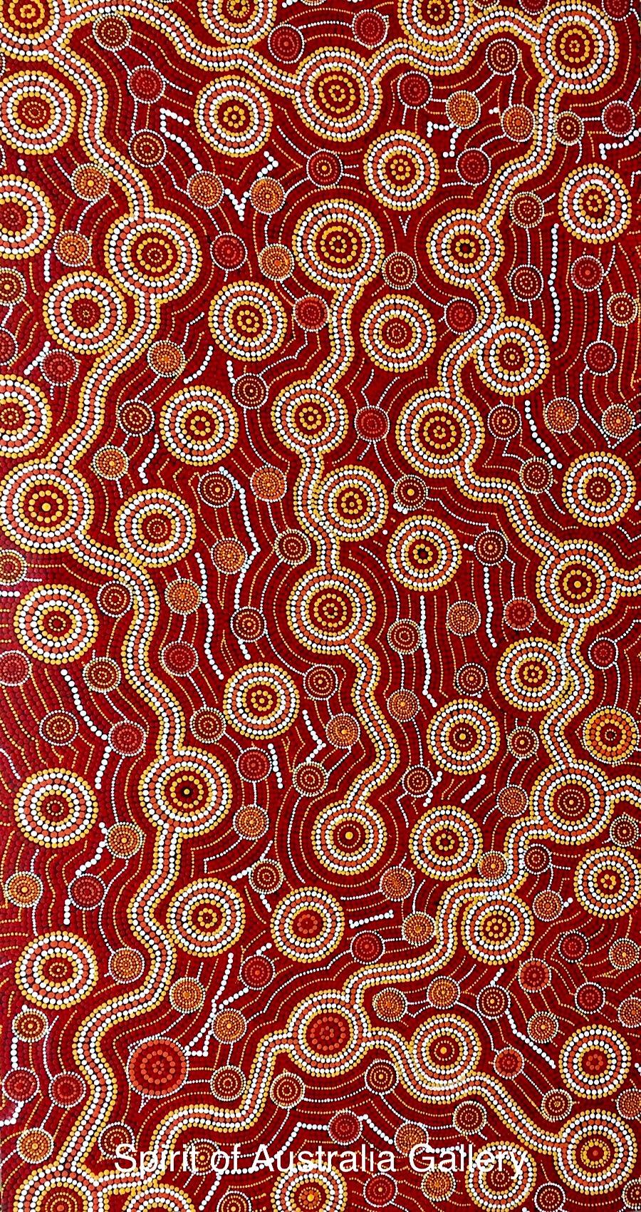 """John Turnbull, """"underground Rivers&Waterholes"""", 170x90cm"""