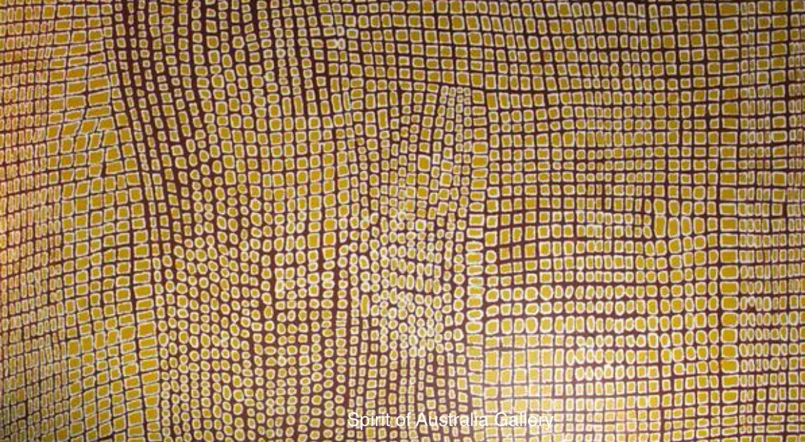 "Pantjiya Nungarrayi, ""Women's ceremony"", 210x120cm"