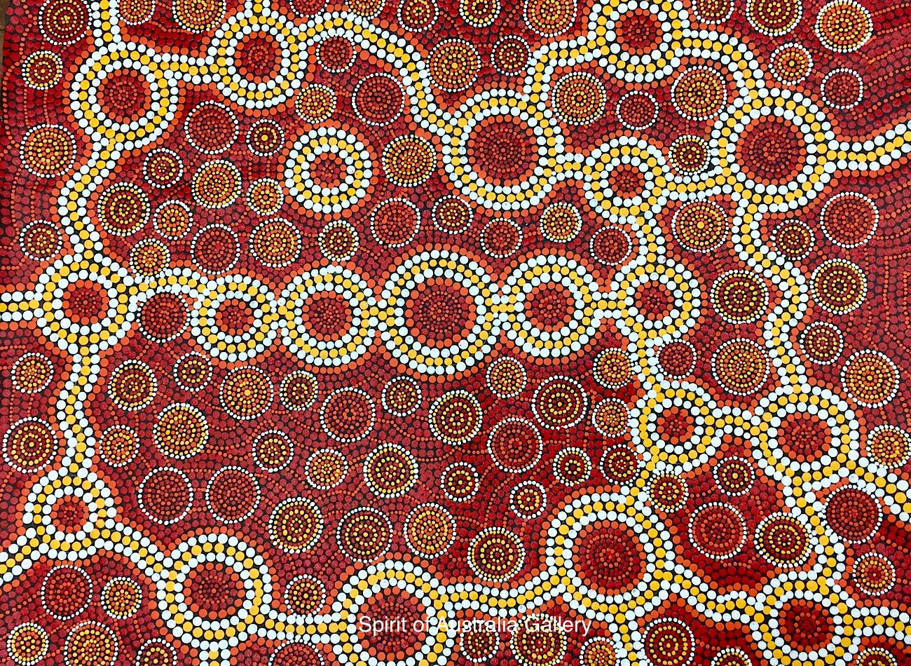 """John Turnbull, """"underground's Rivers and Waterholes"""", 80x60cm"""