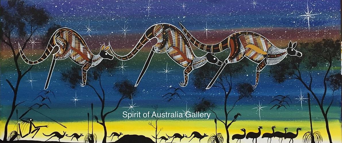 "John Turnbull, ""Spirits in the sky"", 90x40cm"
