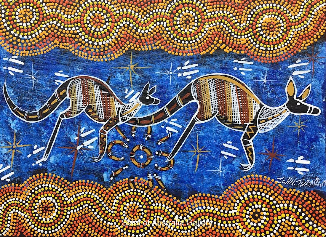 """John Turnbull, """"Kangaroo Hunting"""", 40x30cm"""