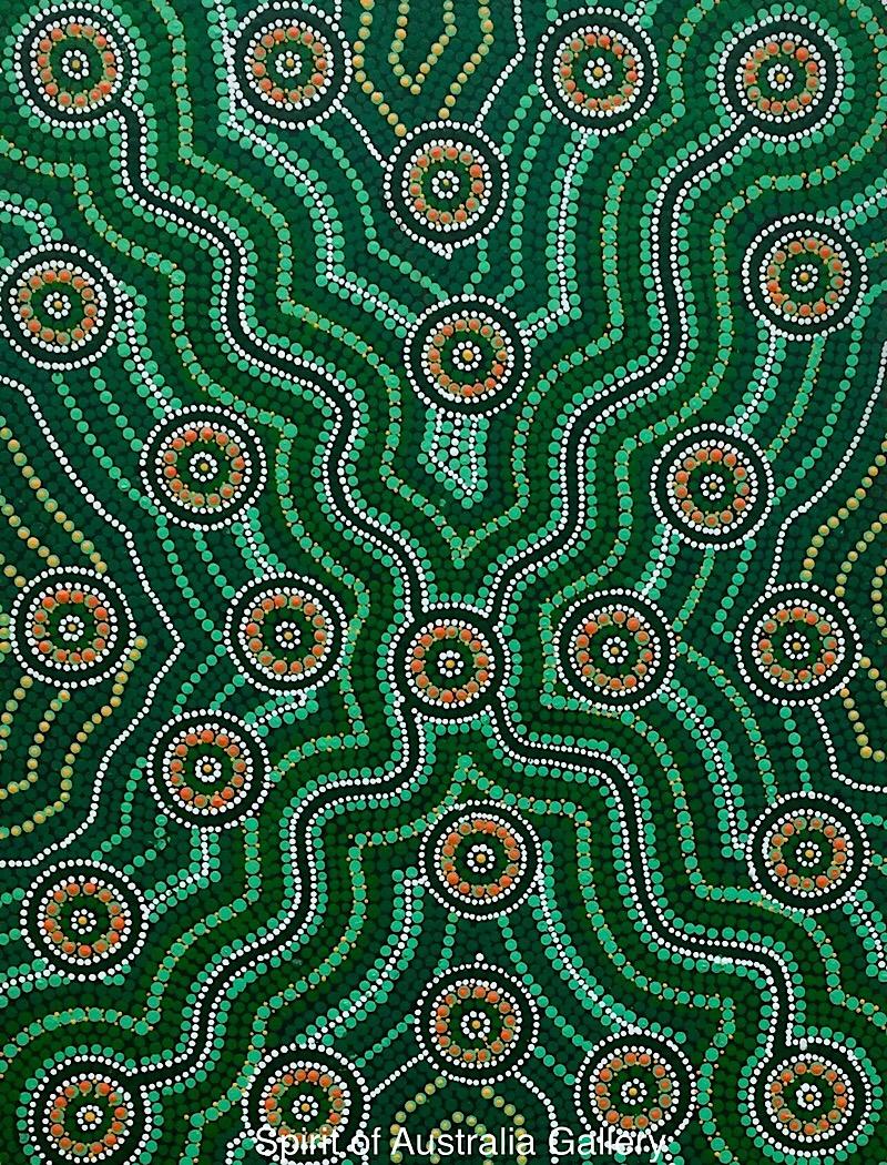 """John Turnbull, """"Waterholes"""", 60x45cm"""