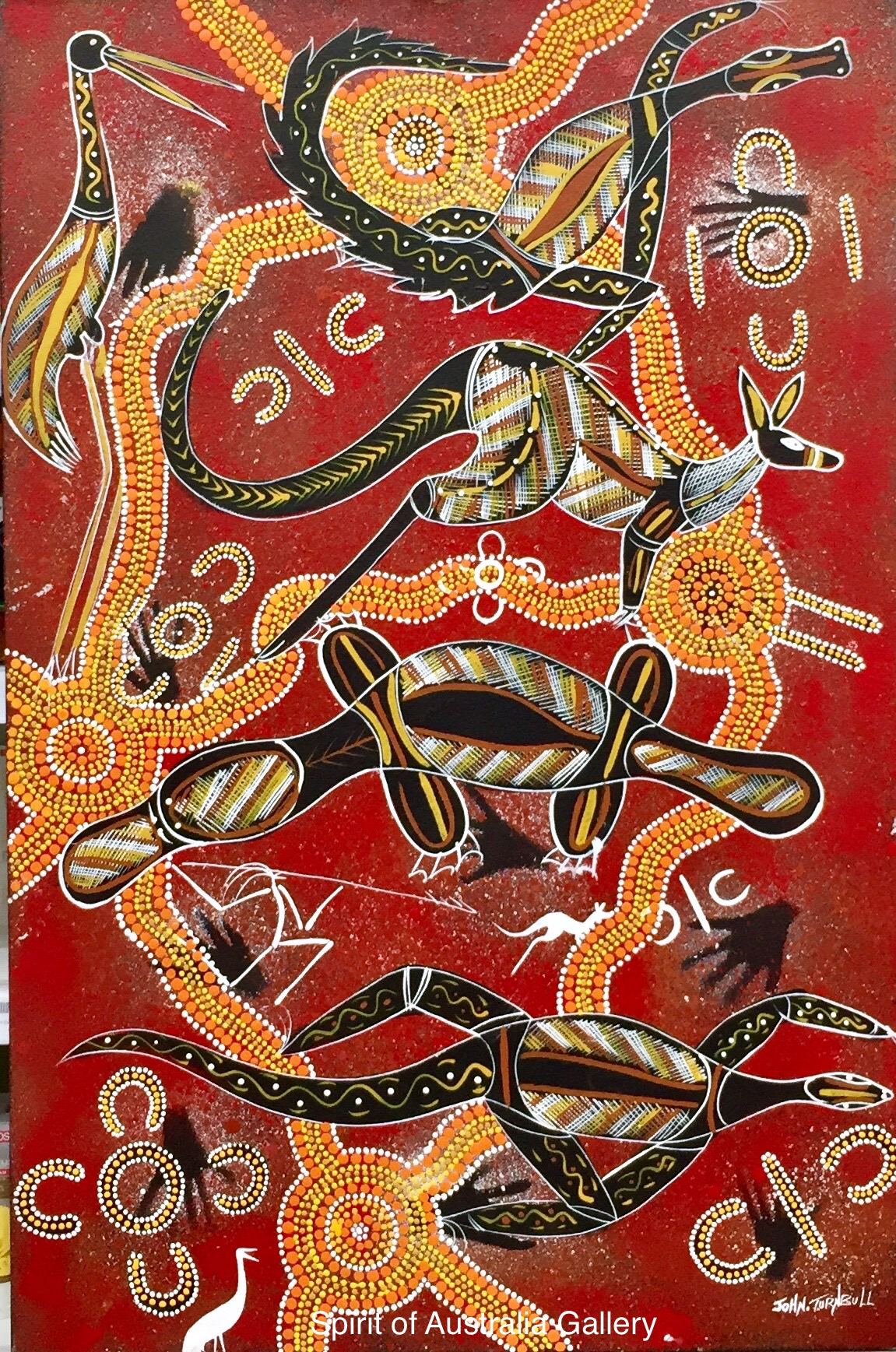 "John Turnbull, ""Spirits Hunting"", 90x60cm"