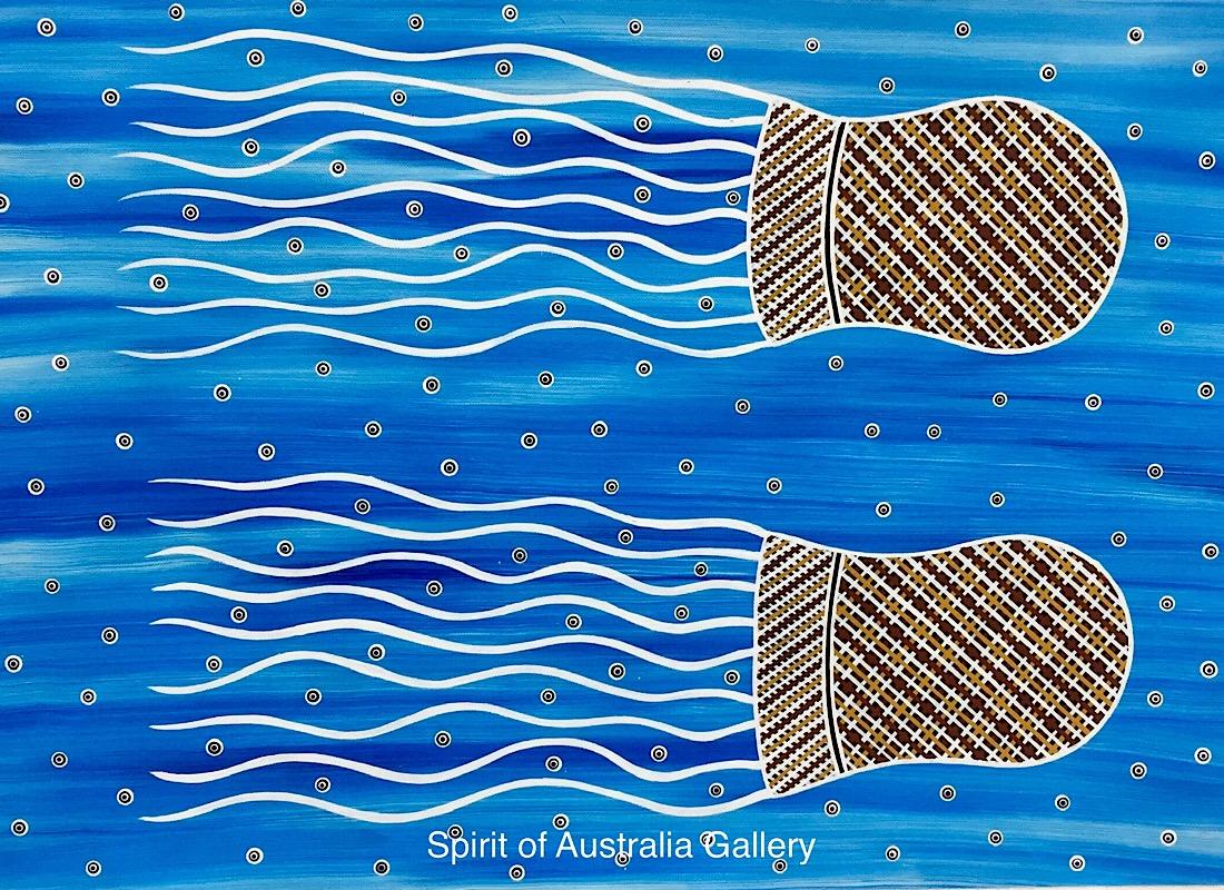 "Phillip Harris, ""Jellyfish"", 80x60cm"