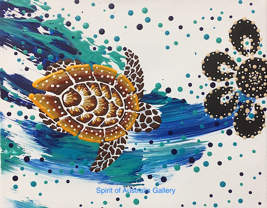 "Anthony Walker, ""Turtle increase song Cycle"", 30x25cm"