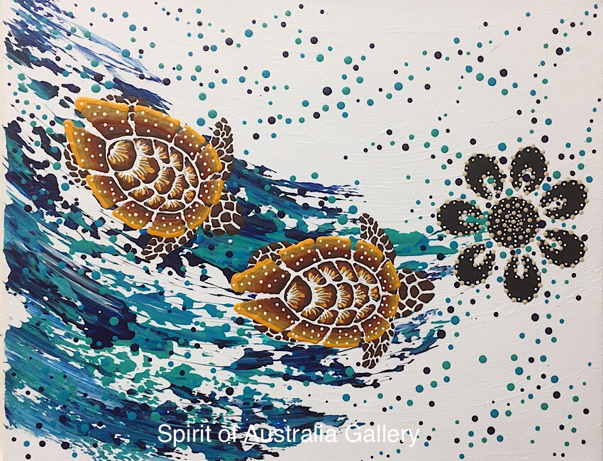 """Anthony Walker, """"turtle increase song Cycle"""", 50x40cm"""