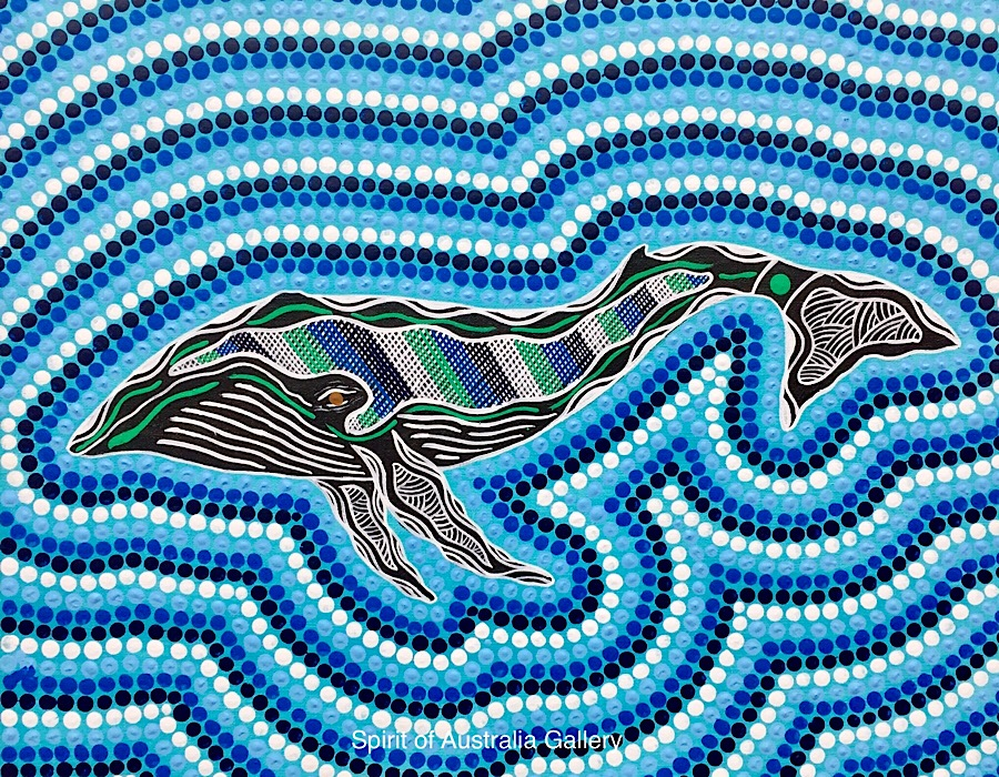"Troy Little, ""Humpback Whale"", 50x40cm"