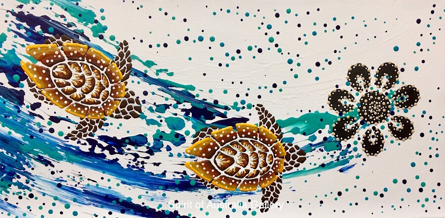 "Anthony Walker, ""Turtle increase song Cycle"", 60x30cm"