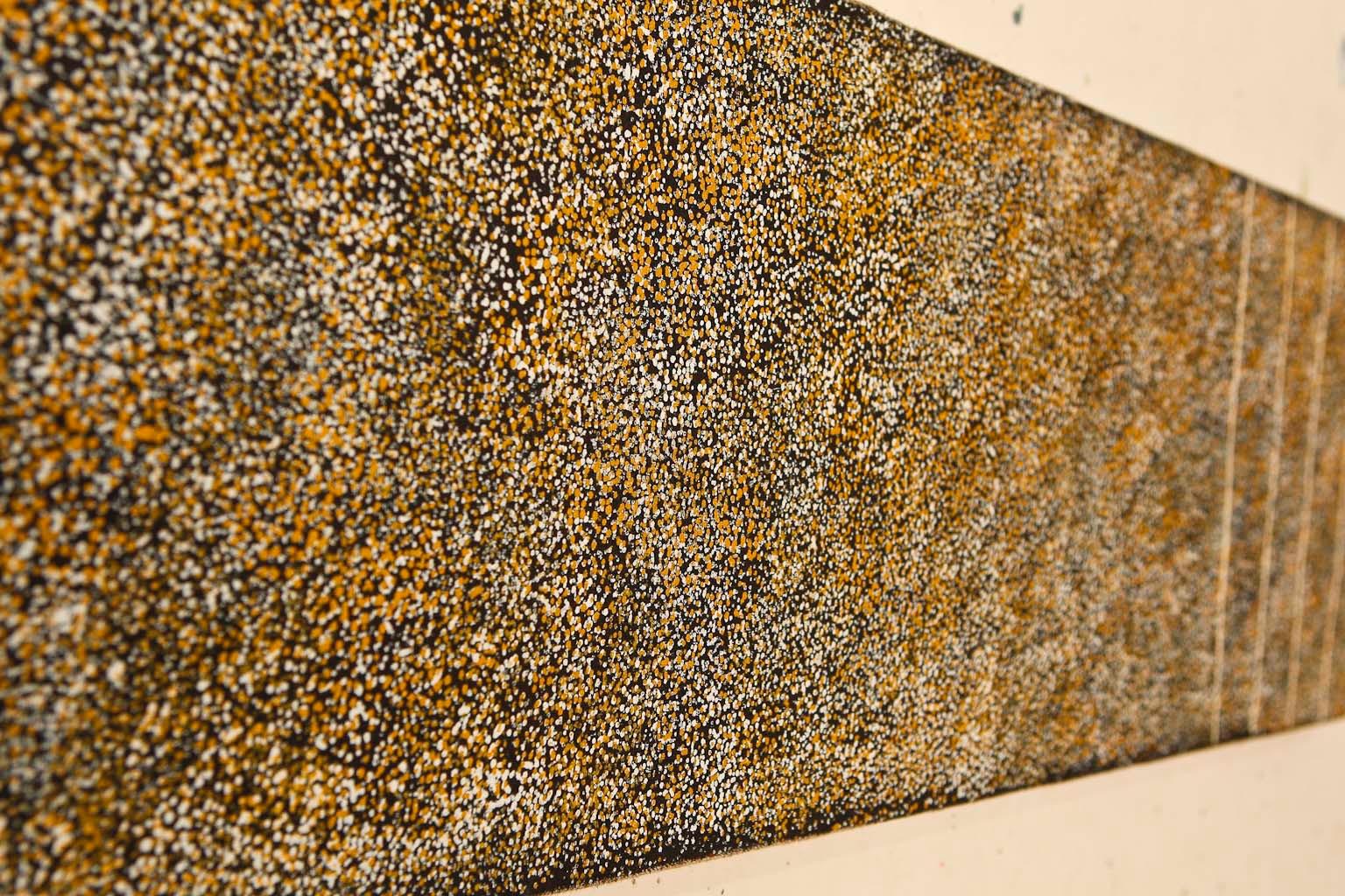 """Kathleen Petyarre, """"Bush Seeds"""", 120x30cm"""