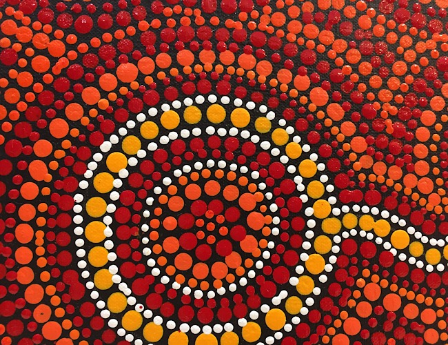 "John Turnbull, ""Tribes around Waterholes and Campsites"", 60x45cm"