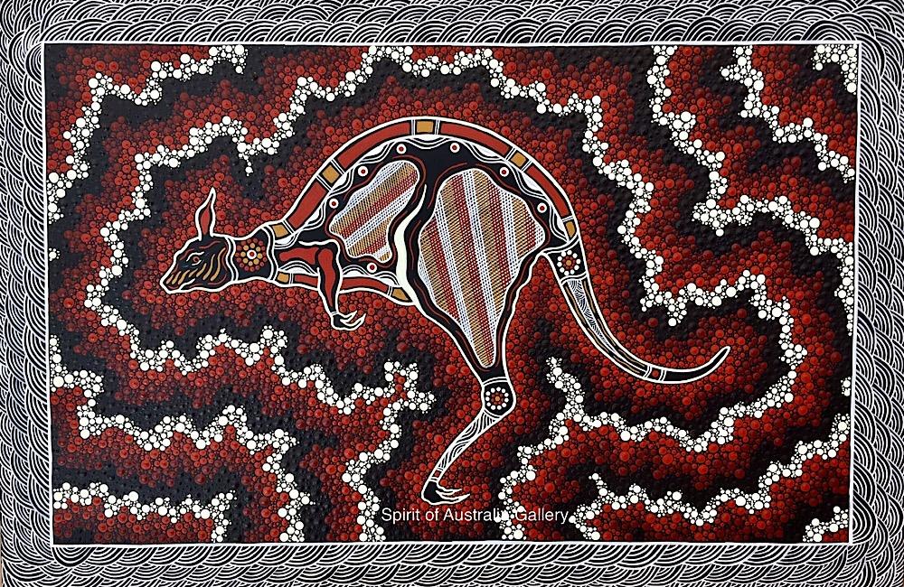 "Troy Little, ""Bush Kangaroo"", 75x50cm"